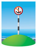 No Anchor navigation sign Stock Photography