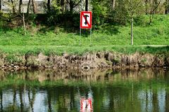 No anchoring prohibition sign in Germany Royalty Free Stock Photos