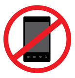 NO Android Smart Phone Vector Royalty Free Stock Photography