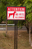 No animal allowed sign Royalty Free Stock Photos