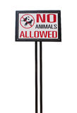 No animal allowed sign Royalty Free Stock Photo