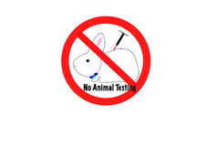No animal testing concept stock illustration