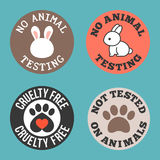 No animal testing and cruelty free for use in label of cosmetic and pharmaceutical products Royalty Free Stock Photography