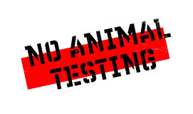 No Animal Testing rubber stamp Stock Images