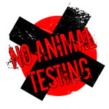 No Animal Testing rubber stamp Stock Photography