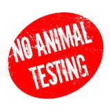 No Animal Testing rubber stamp Stock Image