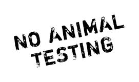 No Animal Testing rubber stamp Royalty Free Stock Images