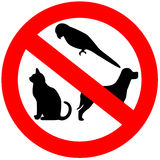 No animals allowed vector illustration