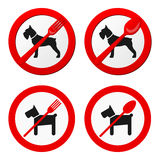 No animals sign vector for restaurant Royalty Free Stock Photo
