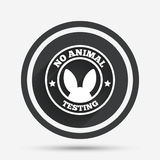 No animals testing sign icon. Not tested symbol. Royalty Free Stock Images