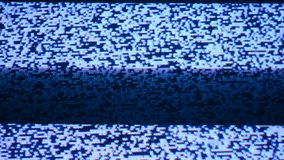 No Antena TV with Stripes. A TV with no signal, with some stripes over the image noise stock video