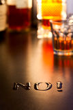 No. ao álcool Imagem de Stock Royalty Free