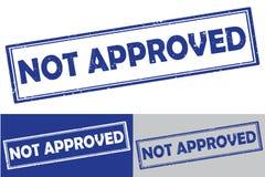 No aprobado - sello de goma /label ilustración del vector