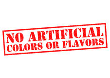 NO ARTIFICIAL COLORS OR FLAVORS Stock Photography