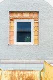 Instalando novas janelas imagem de stock royalty free