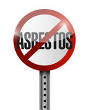 no asbestos sign illustration design stock photography