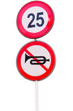 No Audible and speed limit Warning Royalty Free Stock Photography