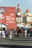 No autodrom de Sochi Fotografia de Stock Royalty Free