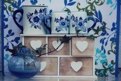 No azul Imagem de Stock