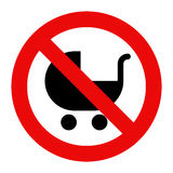 No baby carriage sign Stock Photography