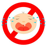 No baby sign. On white background stock illustration