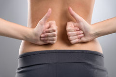 No back ache. royalty free stock images