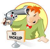 No backup. If you have not backup - you have not chances. Situation similar a roulette royalty free illustration