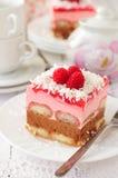 No Bake Chocolate, Raspberry and Savoiardi Layer C royalty free stock photo