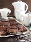 No-bake chocolate squares Royalty Free Stock Photography