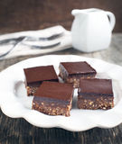 No-bake chocolate squares Royalty Free Stock Images