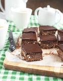 No-bake chocolate squares Royalty Free Stock Photos