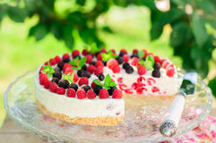 No-bake Raspberry Cheesecake Royalty Free Stock Photography