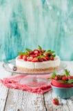No Bake Strawberry Cheesecake Royalty Free Stock Photo