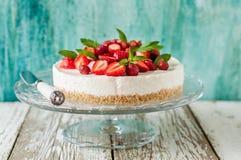No Bake Strawberry Cheesecake Royalty Free Stock Image