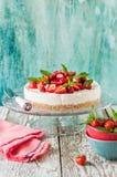 No Bake Strawberry Cheesecake Stock Images