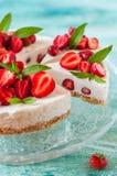 No Bake Strawberry Cheesecake Royalty Free Stock Photography