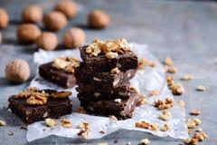 Free No-bake Vegan Brownies With Chocolate Ganache..style Rustic Stock Photos - 172359923