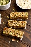 No baked granola bar Royalty Free Stock Images