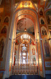No balcão dentro da catedral fotos de stock royalty free