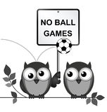 No ball games Stock Images