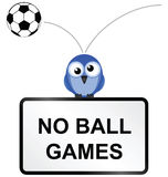 No ball games Royalty Free Stock Photos