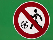 No Ball Games Sign Royalty Free Stock Photos