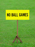No ball games signboard Royalty Free Stock Images