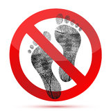 No bare feet allow. Illustration design over a white background Royalty Free Stock Image