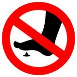 No bare foot sign. Sharp spike danger royalty free illustration