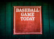 No Baseball Games today. Royalty Free Stock Photos