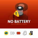 No battery icon in different style Stock Image