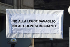 No Bavaglio Day - the banner Stock Photo