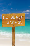 No beach access sign Stock Images