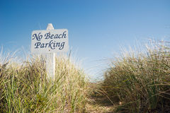 No beach parking sign Stock Image